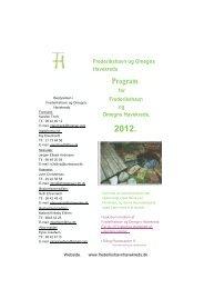 Program - Frederikshavn og Omegns Havekreds