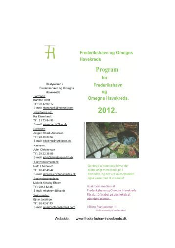 Program - Frederikshavn og Omegns Havekreds