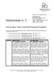 Rettelsesblad nr. 2 - Esbjerg Forsyning A/S