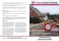 Information om separering af kloak - Vestforsyning