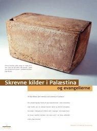 Skrevne kilder i Palæstina - Selskab for Bibelsk Arkæologi