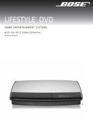 Lifestyle® 38 DVD-baseret hjemmebiograf - Bose