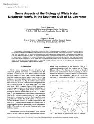 Some Aspects of the Biology of White Hake & Urophycis tenuis & in ...