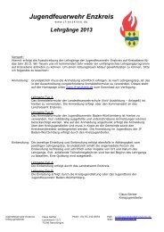 Lehrgänge 2013 - Termine & Infos - Jugendfeuerwehr Enzkreis