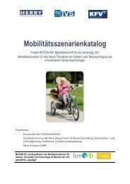 Mobilitätsszenarienkatalog - Vorschlag 1