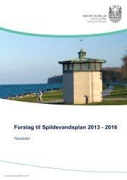 Tekstdel - Forslag til Spildevandsplan 2013-2016 (pdf 4 ... - Aarhus.dk
