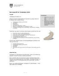 Serviceprofil for Tandplejen 2013 - Fredensborg Kommune