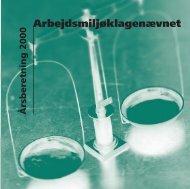 Arbejdsmiljøklagenævnets årsberetning for 2000