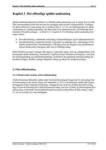 Kapitel 3 Det offentlige spildevandsanlæg