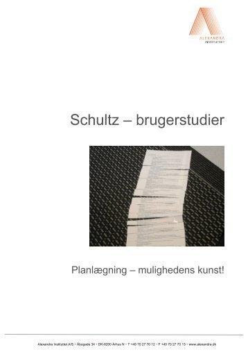 Schultz – brugerstudier - Alexandra Instituttet