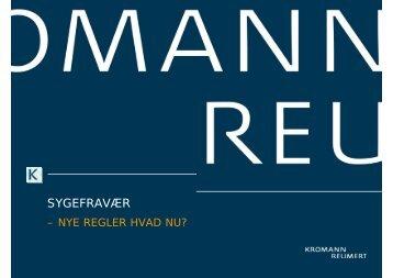 SYGEFRAVÆR - Kromann Reumert