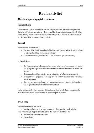 M6 Øvelsesvejledning - Radioaktivitet - Net-undervisning Forside