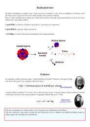 Radioaktivitet α γ β Enheter
