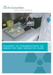 Strålebeskyttelse ved arbejde med åbne radioaktive kilder