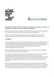 """Samarbejdsaftale med """"Brug for alle unge""""s ... - Kulturstyrelsen"""