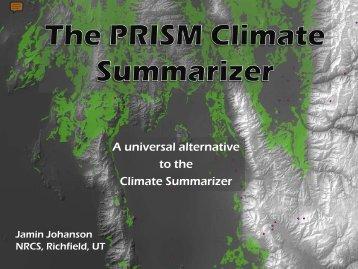 PRISM Climate Summarizer Tool - The Jornada