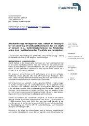 Akademikernes høringssvar vedr. udkast til forslag til lov om ...
