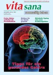 Tipps für ein gesundes Gehirn - vita sana Gmbh