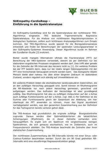 HRV- Spektralanalyse - Herzkohärenz HRV-Biofeedback
