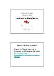 Warum Klassifikation? - Institute for Genomics and Bioinformatics at ...