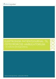 ElEktronisk patiEntjournal til ostEoporosE-ambulatorium