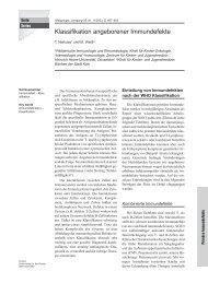 Primäre Immundefekte: Aktuelle (2003) WHO-Klassifikation