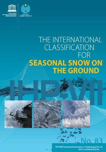 The International classification for seasonal ... - unesdoc - Unesco