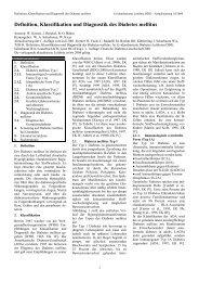 Definition, Klassifikation und Diagnostik des Diabetes ... - Web4Health