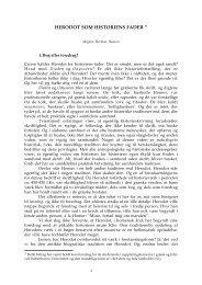 HERODOT SOM HISTORIENS FADER * - Institut for græsk og Latin ...