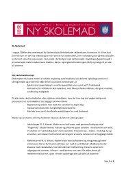 Side 1 af 6 Ny Skolemad I august 2009 er der premiere på Ny ...