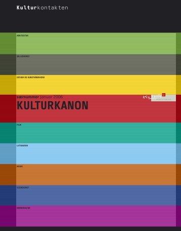 KULTURKANON Kulturkontakten