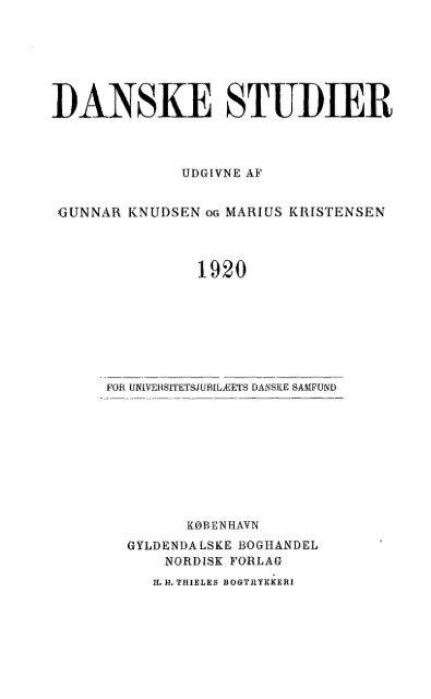 Danske Studier 1920