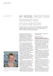 NY MODEL prioriterer sikkerhed ved sygehusbyggeri - Cowi