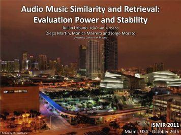[Slides] Audio Music Similarity and Retrieval ... - Julián Urbano