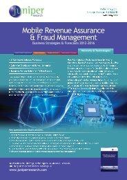 Mobile Revenue Assurance & Fraud Management - Juniper Research
