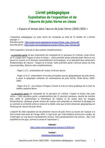 Livret pédagogique - Analyses littéraires des romans de Jules Verne