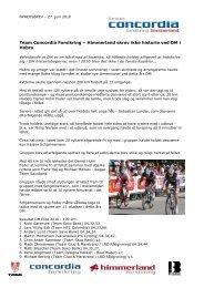Team Concordia Forsikring - Himmerland skrev ikke historie ved DM ...