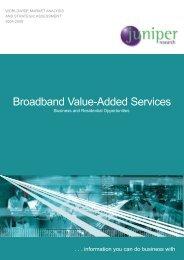 Broadband Value-Added Services - Juniper Research