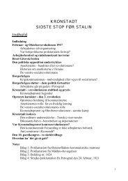 KRONSTADT SIDSTE STOP FØR STALIN - Aktivist