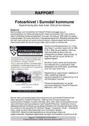 RAPPORT Fotoarkivet i Sunndal kommune - FylkesFOTOarkivet i M&R
