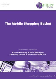 Mobile Retail Whitepaper - Juniper Research
