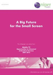 A Big Future for the Small Screen - Juniper Research
