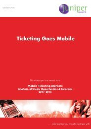 Ticketing Goes Mobile - Juniper Research