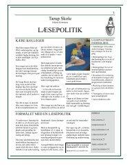 Tarup Læsepolitik og Handleplan - Tarup Skole - Odense Kommune