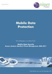 Mobile Data Protection - Juniper Research
