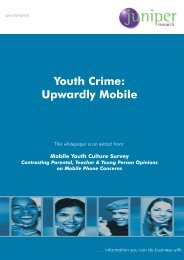 Youth Crime: Upwardly Mobile - Juniper Research
