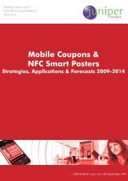 Mobile Coupons- Table of Contents - Juniper Research