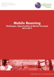 Mobile Roaming List of Forecasts - Juniper Research