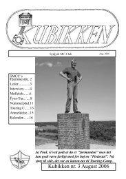 Kubikken nr. 3 August 2006 - Sydjysk MotorCykel Club