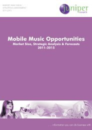 Table of Contents - Mobile Music - Juniper Research